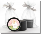 Stork It's a Girl - Baby Shower Black Candle Tin Favors