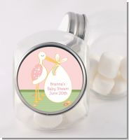 Stork It's a Girl - Personalized Baby Shower Candy Jar