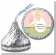 Stork It's a Girl - Hershey Kiss Baby Shower Sticker Labels thumbnail