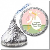 Stork It's a Girl - Hershey Kiss Baby Shower Sticker Labels