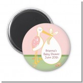 Stork It's a Girl - Personalized Baby Shower Magnet Favors