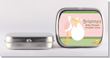 Stork It's a Girl - Personalized Baby Shower Mint Tins
