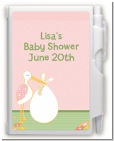 Stork It's a Girl - Baby Shower Personalized Notebook Favor