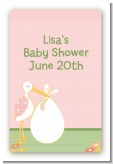 Stork It's a Girl - Custom Large Rectangle Baby Shower Sticker/Labels
