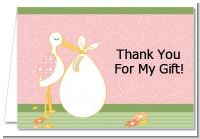 Stork It's a Girl - Baby Shower Thank You Cards