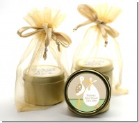 Stork Neutral - Baby Shower Gold Tin Candle Favors