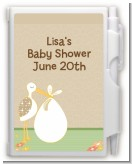 Stork Neutral - Baby Shower Personalized Notebook Favor