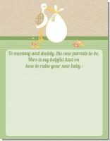 Stork Neutral - Baby Shower Notes of Advice