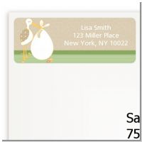 Stork Neutral - Baby Shower Return Address Labels