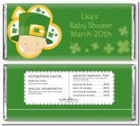 St. Patrick's Baby Shamrock - Personalized Baby Shower Candy Bar Wrappers