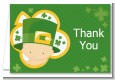 St. Patrick's Baby Shamrock - Baby Shower Thank You Cards thumbnail