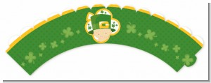 St. Patrick's Baby Shamrock - Baby Shower Cupcake Wrappers