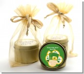St. Patrick's Baby Shamrock - Baby Shower Gold Tin Candle Favors