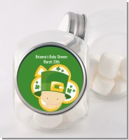 St. Patrick's Baby Shamrock - Personalized Baby Shower Candy Jar