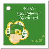 St. Patrick's Baby Shamrock - Personalized Baby Shower Card Stock Favor Tags