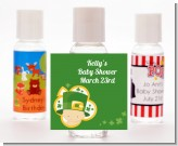 St. Patrick's Baby Shamrock - Personalized Baby Shower Hand Sanitizers Favors