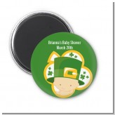 St. Patrick's Baby Shamrock - Personalized Baby Shower Magnet Favors