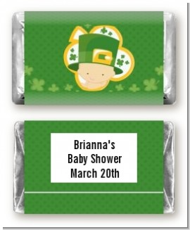 St. Patrick's Baby Shamrock - Personalized Baby Shower Mini Candy Bar Wrappers