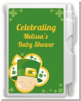 St. Patrick's Baby Shamrock - Baby Shower Personalized Notebook Favor