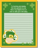 St. Patrick's Baby Shamrock - Baby Shower Notes of Advice