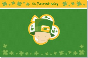 St. Patrick's Baby Shamrock - Personalized Baby Shower Placemats