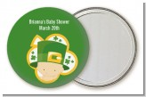 St. Patrick's Baby Shamrock - Personalized Baby Shower Pocket Mirror Favors