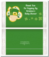 St. Patrick's Baby Shamrock - Personalized Popcorn Wrapper Baby Shower Favors