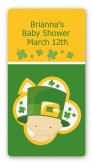 St. Patrick's Baby Shamrock - Custom Rectangle Baby Shower Sticker/Labels