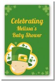 St. Patrick's Baby Shamrock - Custom Large Rectangle Baby Shower Sticker/Labels