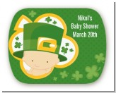 St. Patrick's Baby Shamrock - Personalized Baby Shower Rounded Corner Stickers