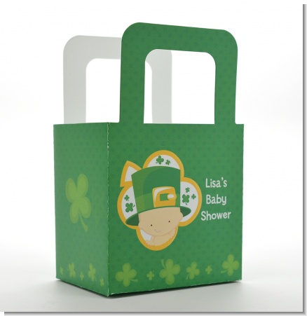 St. Patrick's Baby Shamrock - Personalized Baby Shower Favor Boxes