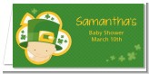 St. Patrick's Baby Shamrock - Personalized Baby Shower Place Cards