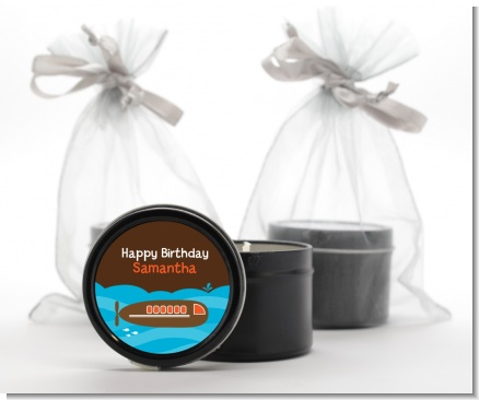 Submarine - Birthday Party Black Candle Tin Favors