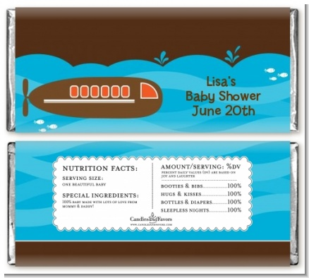 Submarine - Personalized Birthday Party Candy Bar Wrappers