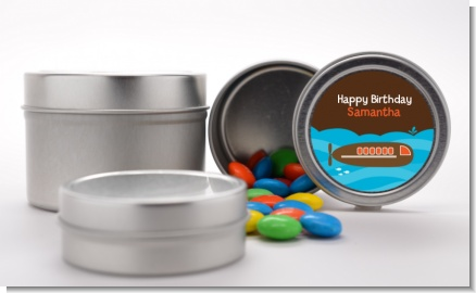 Submarine - Custom Birthday Party Favor Tins