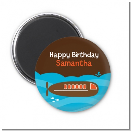 Submarine - Personalized Birthday Party Magnet Favors