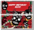 Sugar Skull - Personalized Birthday Party Candy Bar Wrappers thumbnail