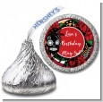 Sugar Skull - Hershey Kiss Birthday Party Sticker Labels thumbnail