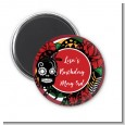 Sugar Skull - Personalized Birthday Party Magnet Favors thumbnail