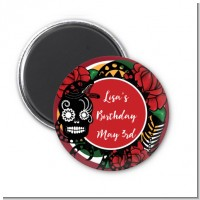 Sugar Skull - Personalized Birthday Party Magnet Favors