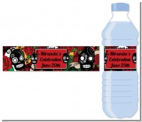 Sugar Skull - Personalized Birthday Party Water Bottle Labels
