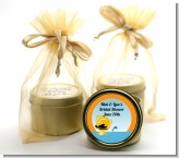 Sunset Trip - Bridal Shower Gold Tin Candle Favors
