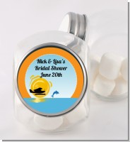 Sunset Trip - Personalized Bridal Shower Candy Jar