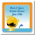 Sunset Trip - Square Personalized Bridal Shower Sticker Labels thumbnail
