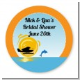 Sunset Trip - Round Personalized Bridal Shower Sticker Labels thumbnail