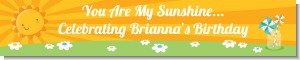 You Are My Sunshine - Personalized Birthday Party Banners