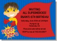 Superhero Boy - Birthday Party Invitations thumbnail
