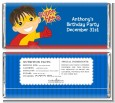Superhero Boy - Personalized Birthday Party Candy Bar Wrappers thumbnail