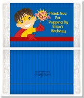 Superhero Boy - Personalized Popcorn Wrapper Birthday Party Favors