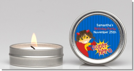 Superhero Girl - Birthday Party Candle Favors
